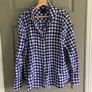 J CREW Boy Fit Blue Buffalo Check 10
